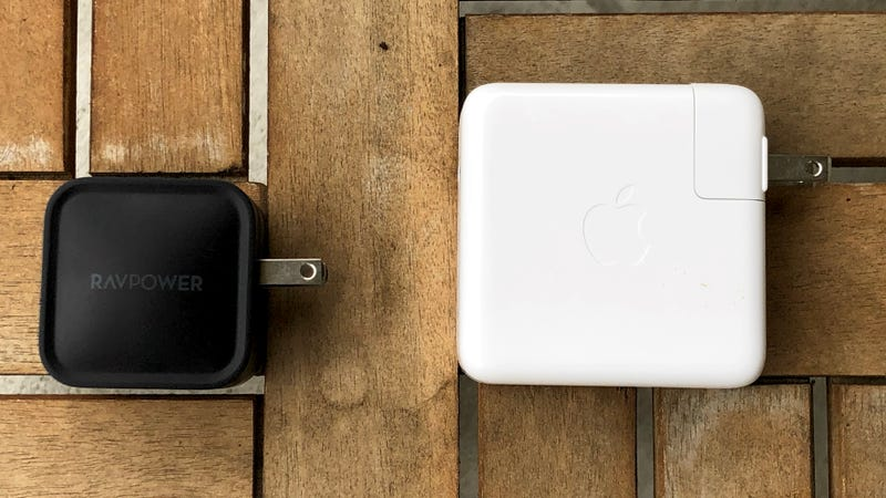 RAVPower's new GaN charger outputs the same 61W as Apple's significantly larger MacBook Pro charger