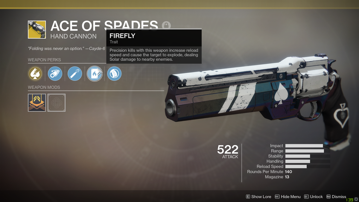 How To Complete The Ace Of Spades Exotic Quest In Destiny 2