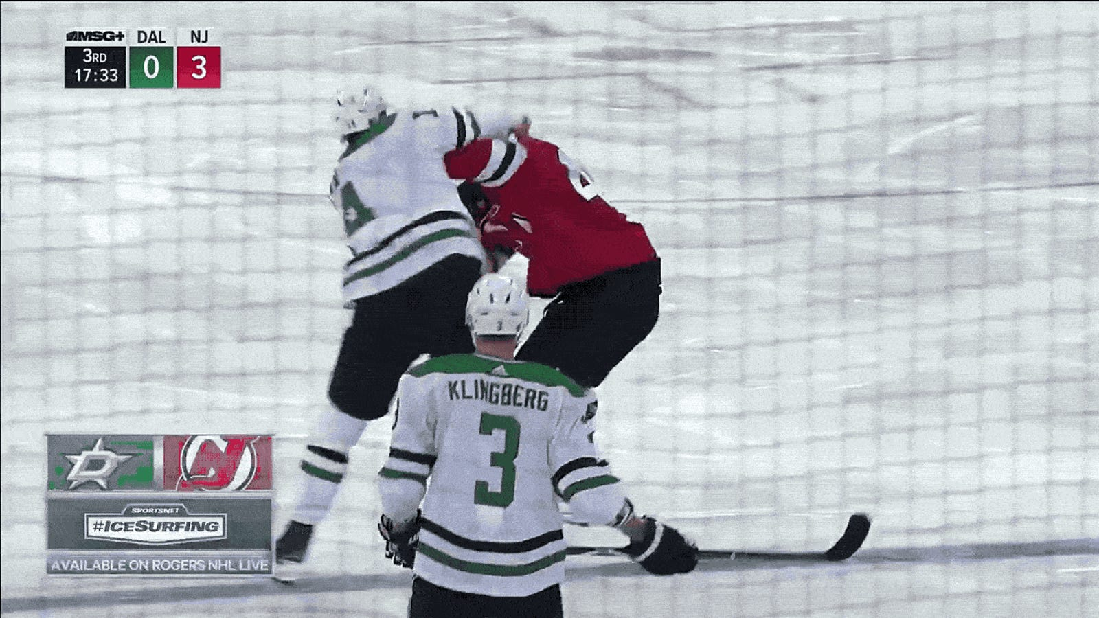 wholesale dealer 81b36 d4d5a Jamie Benn And Miles Wood Got Real Feisty With Each Other