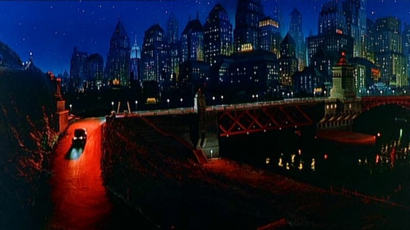 Illustration for article titled Here are some gorgeous matte paintings from Warren Beatty's Dick Tracy