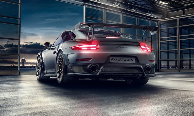 Illustration for article titled The Porsche 911 GT2 RS is Your New Near-King of the Nürburgring