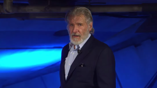 Harrison Ford honored late Chewbacca actor Peter Mayhew at the Galaxy's Edge opening