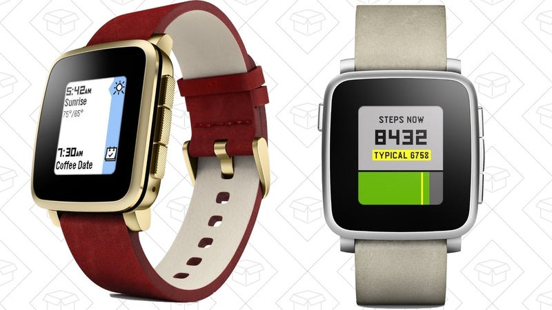 Refurb Pebble Time Steel: Gold | Silver, $130