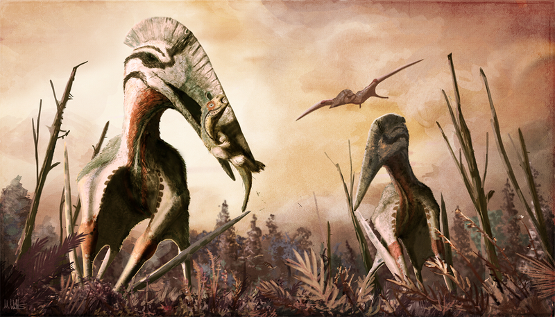 Aspecto probable del Hatzegopteryx. Ilustración: Mark Witton