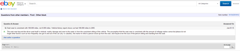 "Illustration for article titled The Answer to this eBay Question about a ""8k Mile Car"" is VERY Sketchy (and hilarious)"