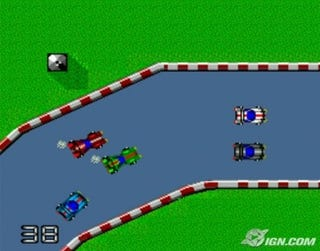 Illustration for article titled What if real racing was like 80s/90s basic race games?