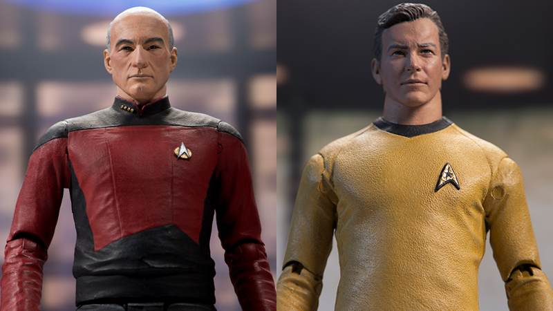 Picard and Kirk, reporting for their latest station: your desk.