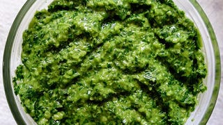 Illustration for article titled Make the Most of Leafy Greens by Using the Stems in Pesto
