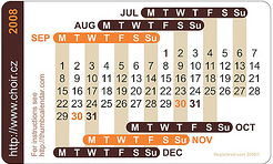 Tiny business card calendar weighing in at the size of a business card the tiny thumb calendar makes it possible to keep a calendar on you at all times the thumb calendar is two reheart Image collections