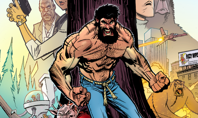 if wolverine and hercules had a kid he d probably be like shirtless bear fighter