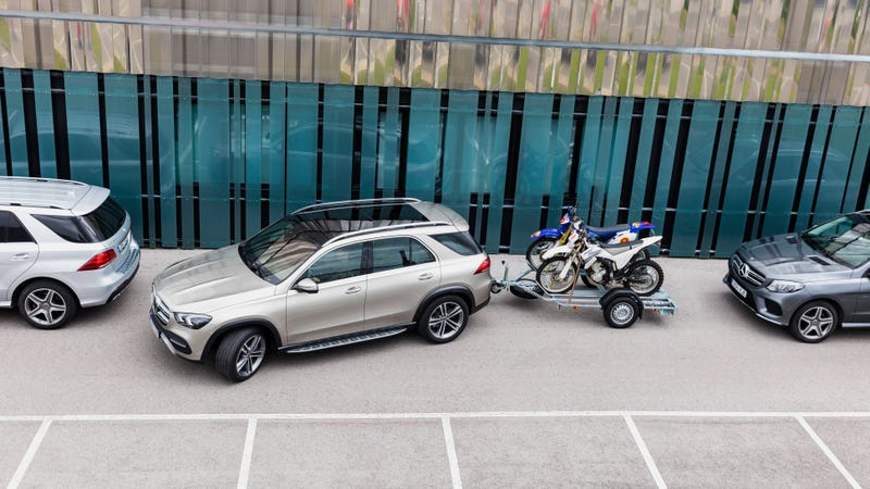 The GLE pictured, which will be getting this ability upon launch. Photos: Mercedes