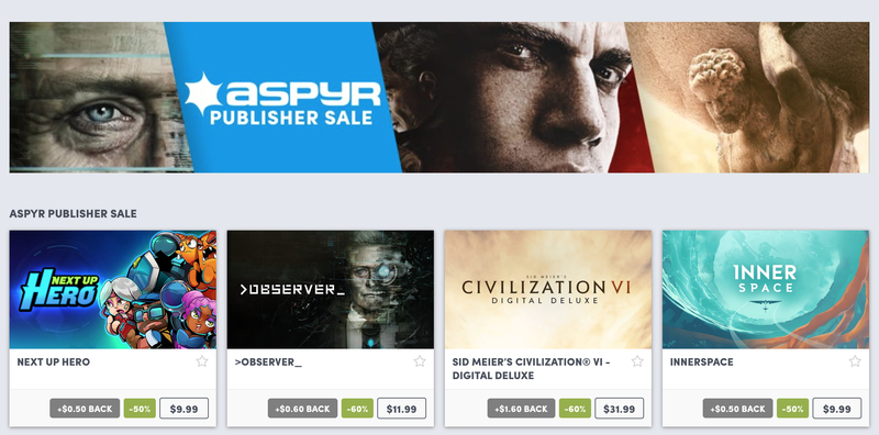 Aspyr Publisher Sale | Humble