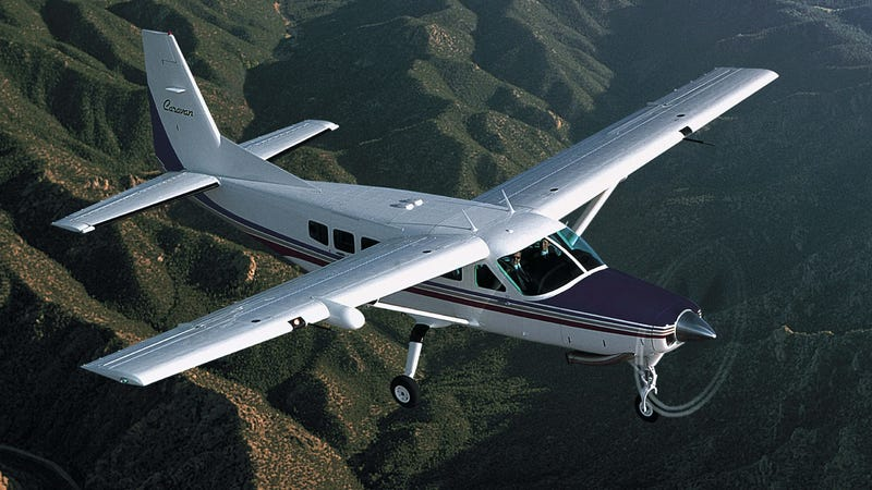 A Cessna Caravan, like the one the NYPD uses to scout for nukes/take the mayor on vacation.