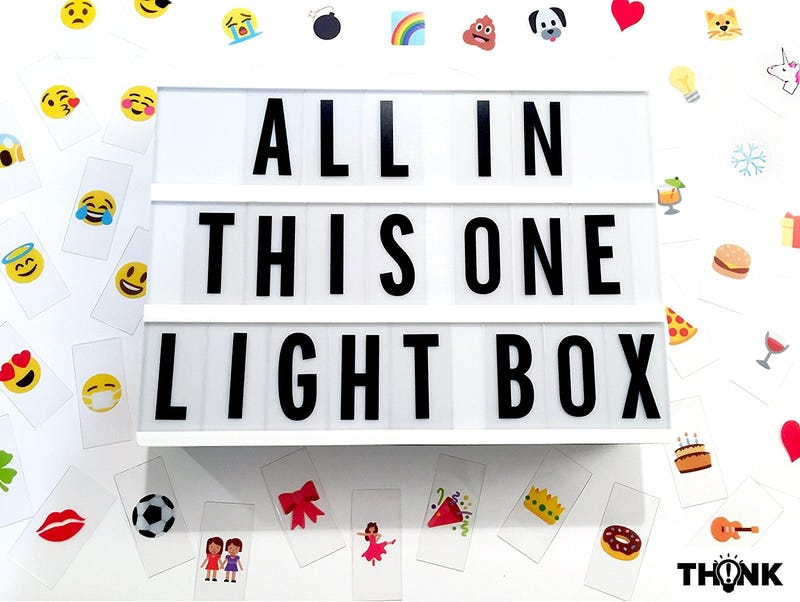 DIY Marquee Light Up Message Light Box Complete Set | $20 | Amazon