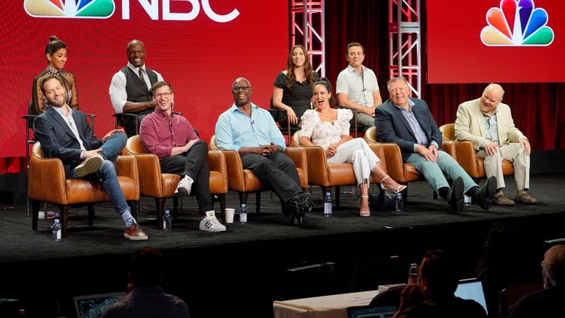 The cast and creator of Brooklyn Nine-Nine at the 2018 Television Critics Association summer press tour