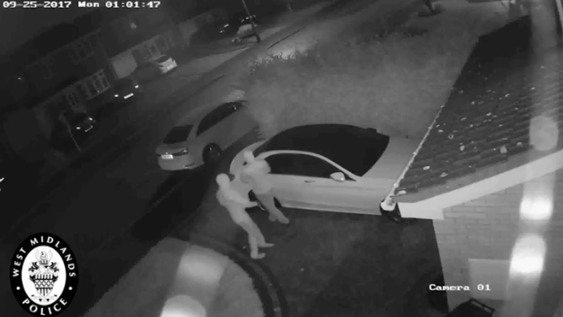 Watch as thieves steal £30k+ Mercedes from driveway in seconds