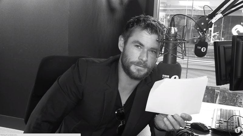 "Illustration for article titled Chris Hemsworth gives Rihanna's ""Work"" the epic reading it deserves"
