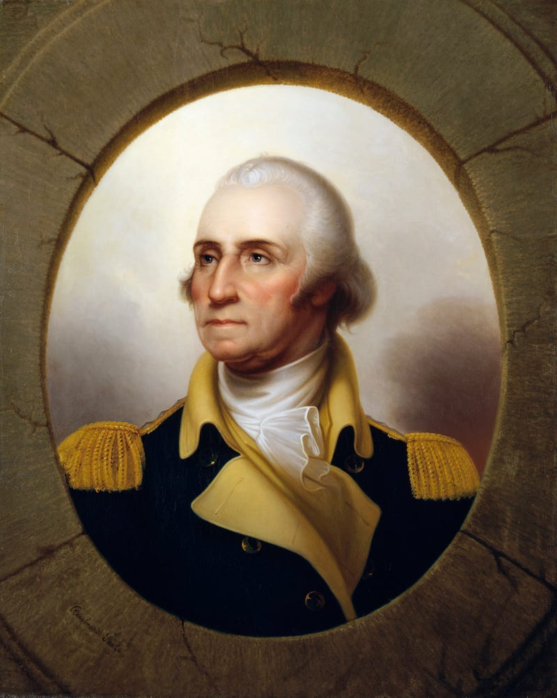 Portrait of George Washington by Rembrandt Peale from the National Portrait Gallery in Washington, D.C.GraphicaArtis/Getty Images