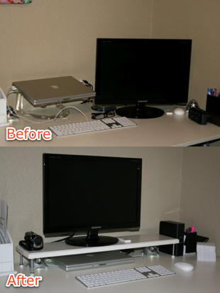 Diy Tv Or Monitor Stand From Door Stoppers
