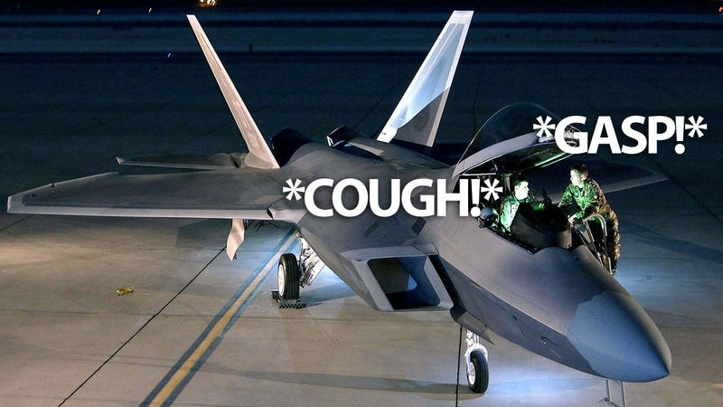 Illustration for article titled Toxic Glue Causes Mysterious F-22 Pilot Syndrome, Says Expert