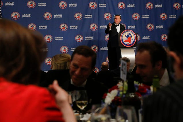 A Room Full of New York Republicans Straight Up Ignored Ted Cruz's Speech Last Night