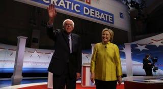 Bernie Sanders and Hillary ClintonTASOS KATOPODIS/AFP/Getty Images