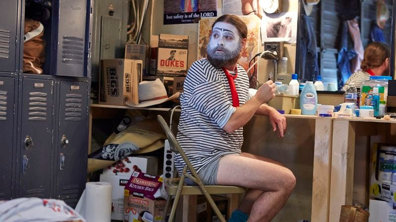 Illustration for article titled Zach Galifianakis sneaks beauty into the cringe-comedy Baskets
