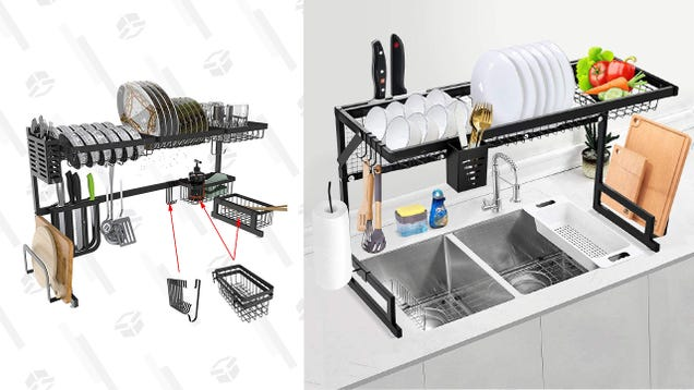 Save Space in a Tiny Kitchen With up To 32% off an Over the Sink Dish Drying Rack