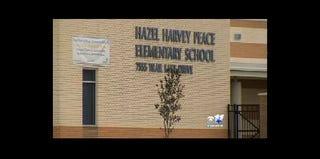 Hazel Harvey Peace Elementary School (CBS 11 screenshot)