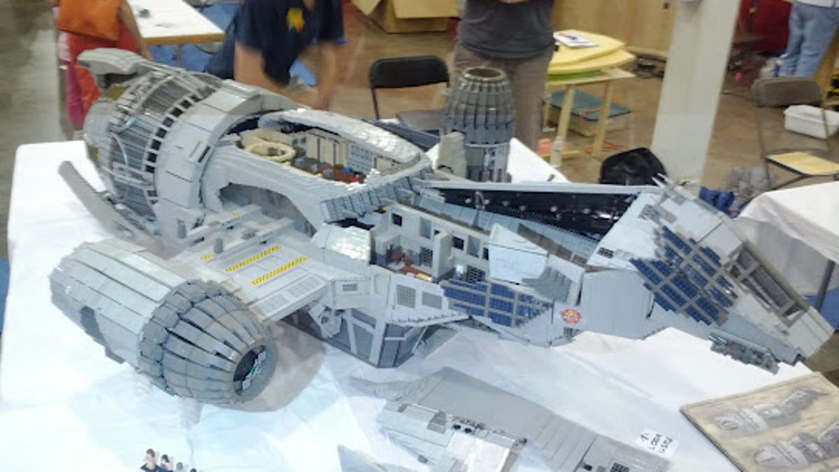 Seven Foot Long Minifig Scale Serenity Model Is A Lego Masterpiece