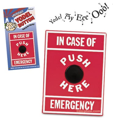 Illustration for article titled Emergency Yodel Button Creates Avalanche of Ridicule