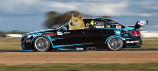 Illustration for article titled A Dogecoin Mercedes Might Race In Aussie-Rules NASCAR