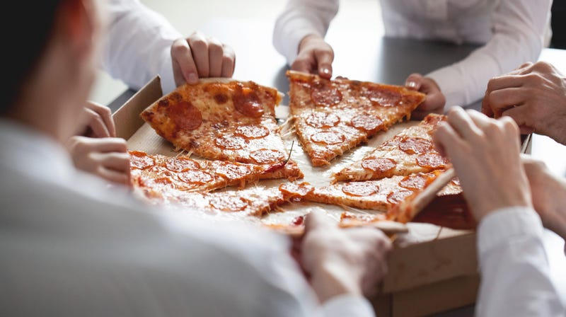 Maybe pizza isn't the ideal food to serve at meetings
