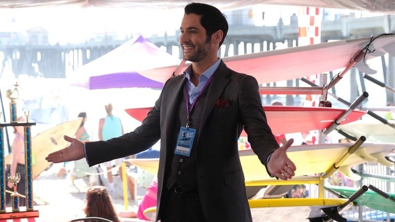 The chipper Lucifer Morningstar (Tom Ellis) ditches Hell and takes a gig working with the LAPD on Lucifer.