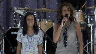 Bobbi Kristina Brown and Whitney Houston performing on ABC's Good Morning America in 2009Larry Busacca/Getty Images