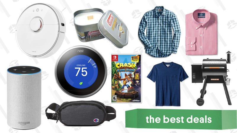 Illustration for article titled Sunday's Best Deals: Nest Thermostat, Herschel Duffel Bag, Crash Bandicoot, Echo Speakers, and More