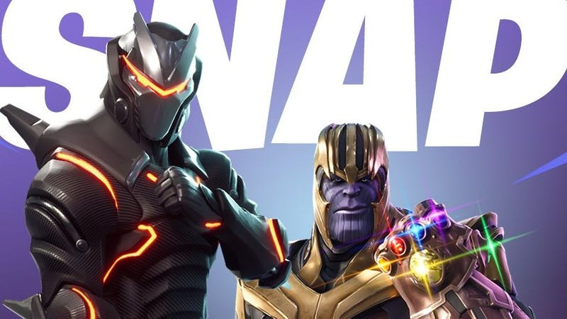 Illustration for article titled The Avengers' next crossover will have Thanos showing up in Fortnite