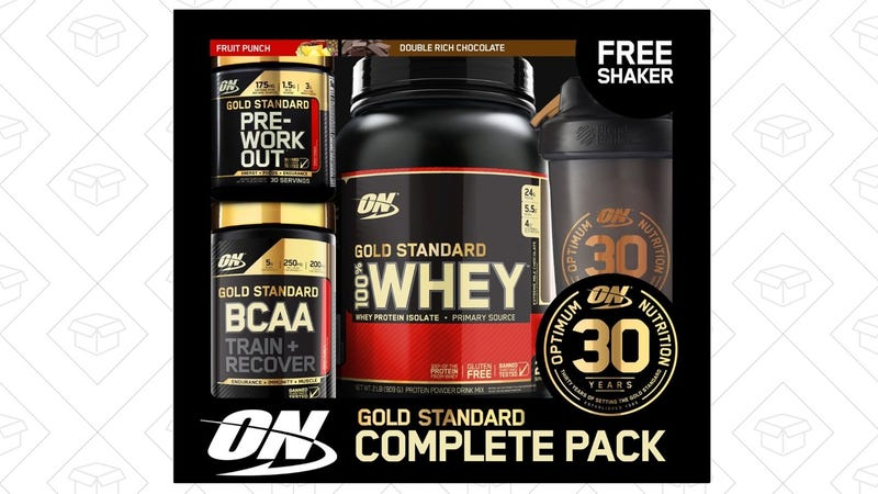 Optimum Nutrition 30th Anniversary Gold Standard Protein Powder Set, $45 after $25 coupon