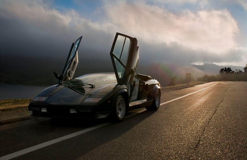 Illustration for article titled Drifting and Sliding a Lamborghini Countach