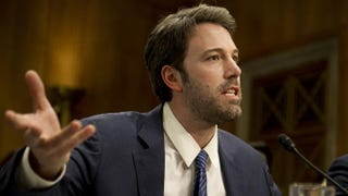 Ben Affleck testifies about the Republic of Congo during a U.S. Senate Committee on Foreign Relations hearing on Capitol Hill Feb. 26, 2014, in Washington, D.C.SAUL LOEB/AFP/Getty Images