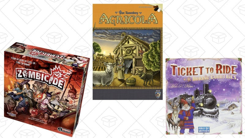 Zombicide, $52 | Agricola, $37 | Ticket to Ride: Nordic Countries, $29