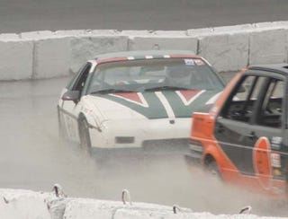 Illustration for article titled Fiero Recovers From 7-Lap Altamont Nightmare... Then Gets Wrecked In Toledo