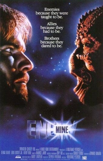 Illustration for article titled Enemy Mine: the B-movie that is a parable for absolutely everything