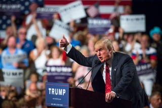 Republican presidential candidate Donald TrumpCharlie Leight/Getty Images