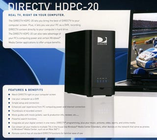 Illustration for article titled DirecTV PC Tuner Photos Surface Online