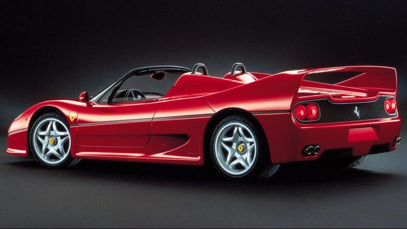 Illustration for article titled Please Appreciate The Ferrari F50's $1000 Rearview Mirror