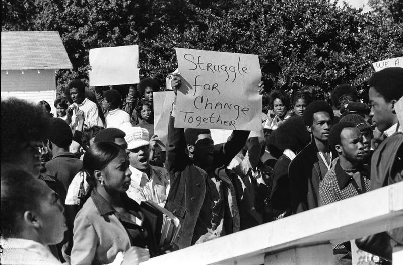 Southern University students protesting (Southern University)