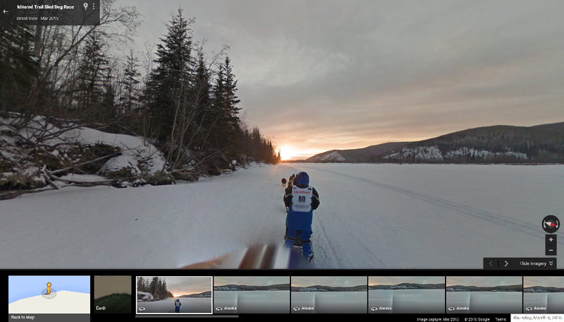 Illustration for article titled Experience The Alaskan Iditarod Through Google Street View From The Comfort Of Your Bed