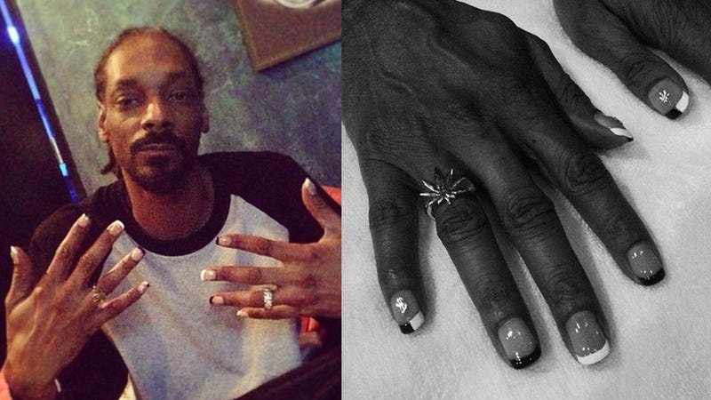 Snoop Dogg Gets a Beautiful French Manicure - Ghetto Hairstyles