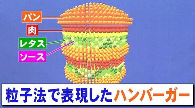 Forma perfecta de comer hamburguesa japoneses